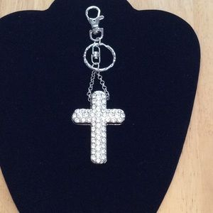 🧿New Rhinestone Cross Keychain
